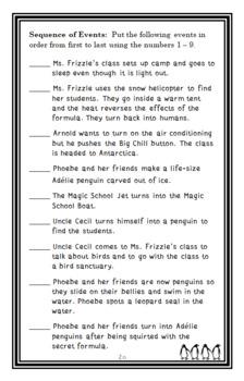 Penguin Puzzle (The Magic School Bus) Novel Study / Comprehension (23 pages)