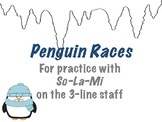 Penguin Races! Winter-Themed So-La-Mi Practice