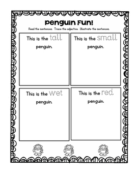 Penguin Read and Draw