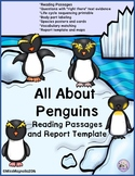 Penguin Reading Passages and Report All About Penguins
