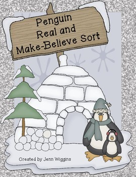 Penguin Real and Make Believe Activity Pack