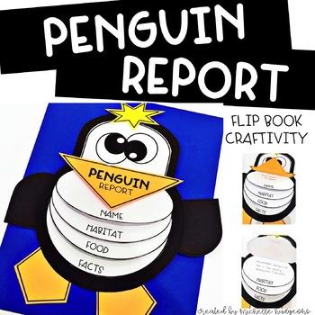Penguins | Penguin Research Flip Book Report