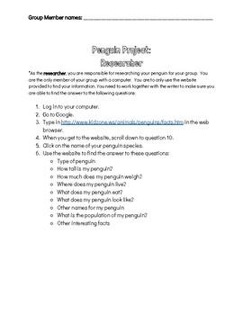Penguin Research Project (Mr. Popper's Penguins)
