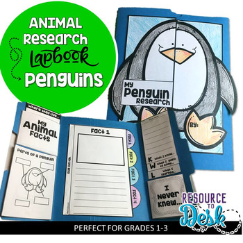 Penguin Research Project - A Zoo Animal Research Lapbook