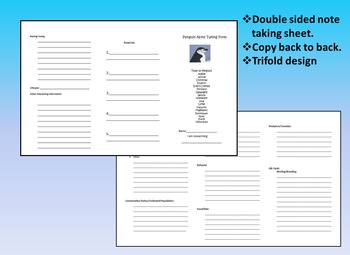 Penguin Research Project  with Student PowerPoint Rubric