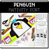 Penguin Research Sort Craft Hat Kindergarten, 1st grade, P