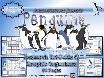 Penguin Research Tri-Folds and Graphic Organizers