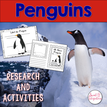 PENGUINS ACTIVITIES - Nonfiction Research With Interactive Quiz Game