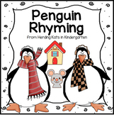 Penguin Rhyming Match-up for Literacy Centers & Phonological Awareness