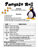 Penguin Roll - A Winter Math and Art Activity to Practice Adding 3 Numbers