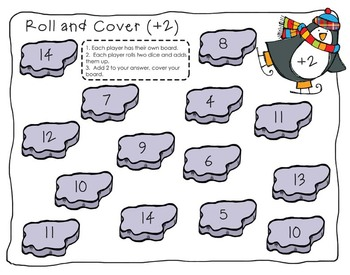 Penguin Roll, Add and Cover FREEBIE