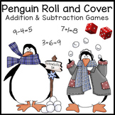 Penguins Math Activities: Addition & Subtraction Games