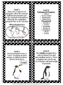 Penguin Scavenger Hunt with data collection and graphs