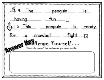 Penguin Scrambled Sentences
