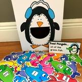 """Penguin Sensory Bin Activities:  """"Feed Penguin"""""""
