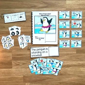 """Penguin Sentence Builder Book:  """"What Is Penguin Doing?"""""""