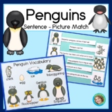 Penguin sentence picture match reading and science center