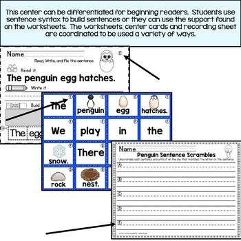 Penguin Sentence Scrambles