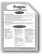 Penguin Shape Book