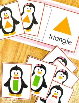 Penguins Shape Sort | Penguin Activities | Winter Activities for Preschool