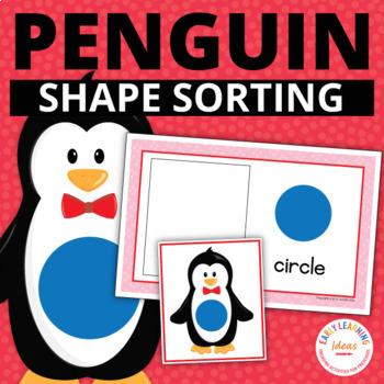 Penguin Shape Sort: Winter Shapes