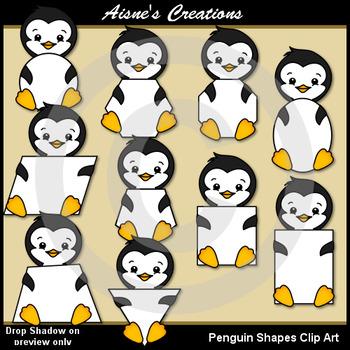 Penguin Shapes Clip Art