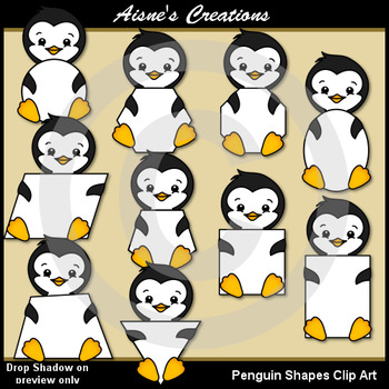 Penguin Shapes Clip Art