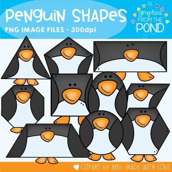 Penguin Shapes Clipart