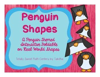 Penguin Shapes Interactive Notebook Shutter Fold