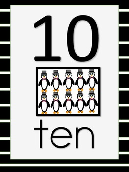 Penguin Shapes and Numbers