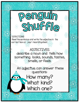 Penguin Shuffle: A Scoot Game for ADJECTIVES