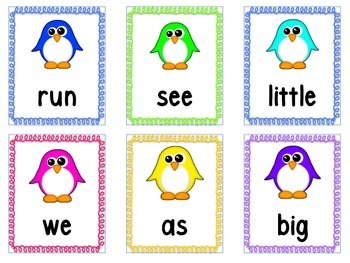 Penguin Sight Cards (First Grade)