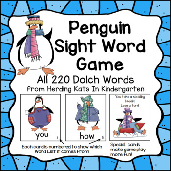 Penguin Sight Word Game (Dolch Word Lists 1-11)