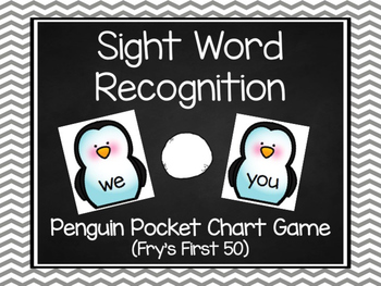 Penguin Sight Word Game- Fry's First 50 Words