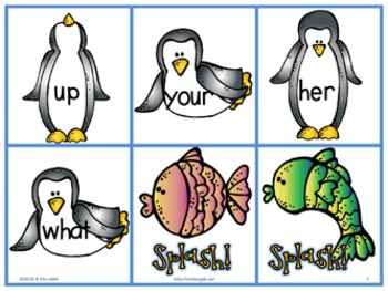 Penguin Sight Word Literacy Game Pack by Kim Adsit