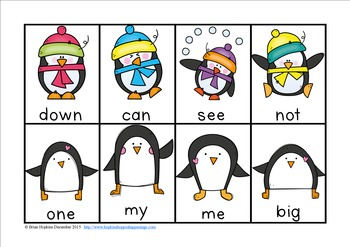 Penguin Sight Word Race