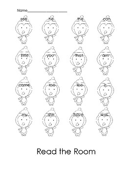 Penguin Sight Word Read the Room Activity