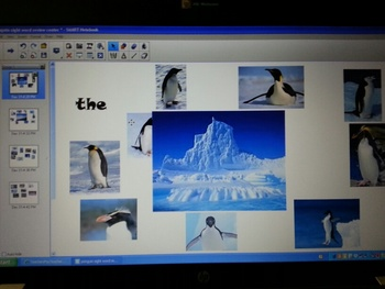 Penguin Sight Word Review SmartBoard Center