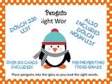 Penguin Sight Words Pre-Primer through Third Grade
