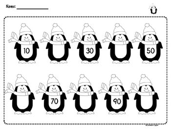 Penguin Skip Counting by 10
