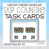 Penguin Skip Counting by 10 Task Cards {Freebie}