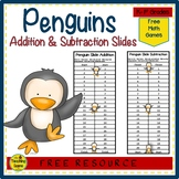 Penguin Slide Addition & Subtraction Center