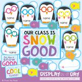 Penguin {Snow} Bulletin Board, Hallway, Window or Door Display