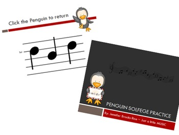 Penguin Solfege Reading Practice Interactive Game BUNDLE