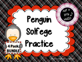 Penguin Solfege Reading Practice Interactive Game BUNDLE