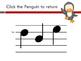 Penguin Solfege Reading Practice Interactive Game {la}