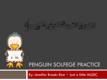 Penguin Solfege Reading Practice Interactive Game {so and mi}
