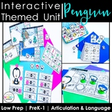 Penguin Speech Therapy Activities: Interactive Winter Animal Unit