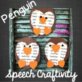 Penguin Speech Therapy Craft {articulation craftivity}