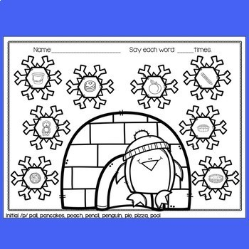 Penguin Speech Therapy - No Prep Articulation Worksheets for Early Sounds